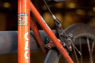 Cecil walker, bike, bicycle, the biketorialist, biketorialist, single speed, fixed speed, fixie, Swanton St, orange, frame, velocity , tim macauley, timothy macauley, model, frame, chris king, king, columbus, Victoria, Australia, decal, sticker,