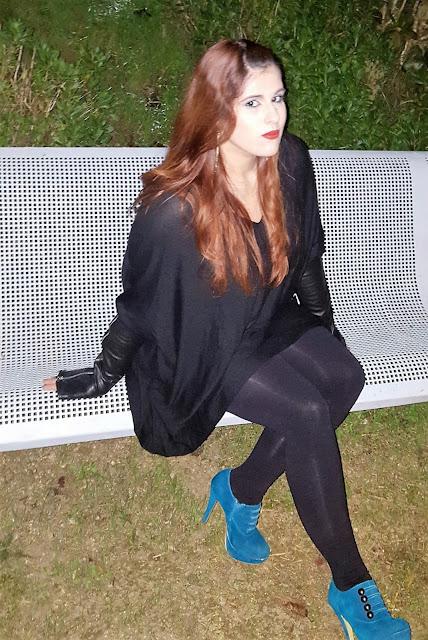 look do dia, fim de ano, azul, preto, basico