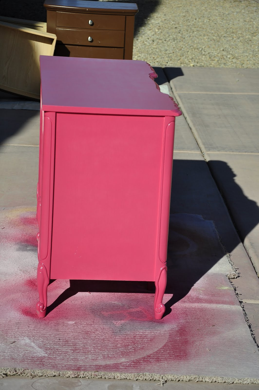 this desk only took two cans of spray paint. Black Bedroom Furniture Sets. Home Design Ideas