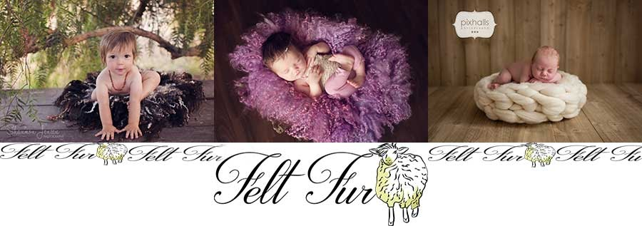Felt and fur Newborn Props