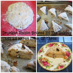 Drunken Raisin Scones