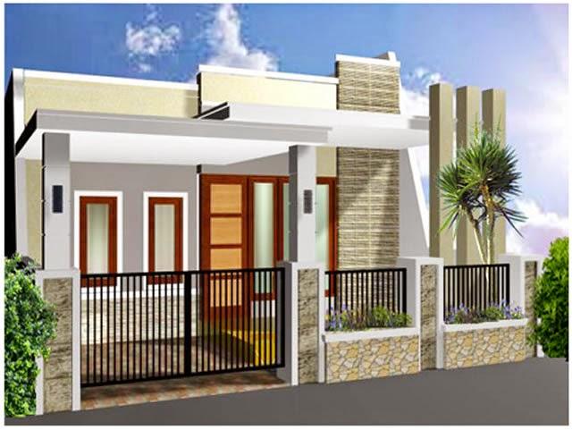 contoh desain pagar rumah minimalis, desain pagar minimalis