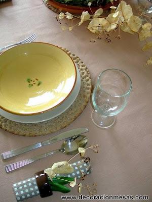 decoracion mesas estilo rustico