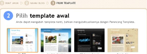 Pilih Templates Blog