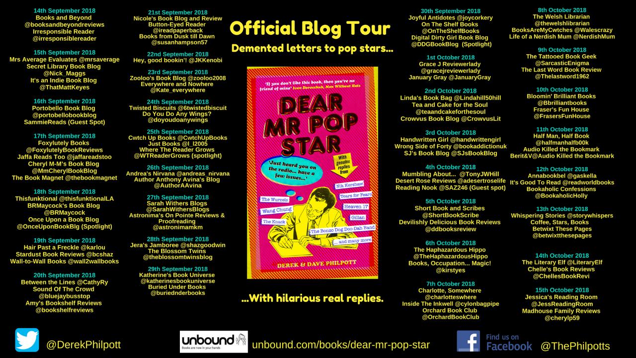 Dear Mr Pop Star Blog Tour