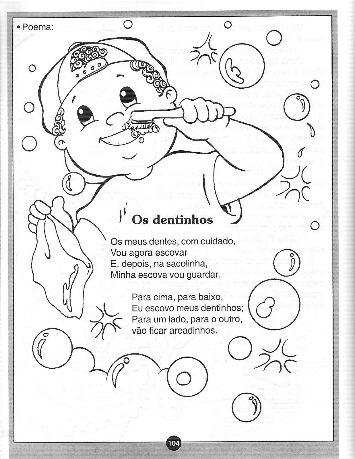 Muitas vezes ESPAÇO EDUCAR: Atividades sobre higiene bucal - atividades sobre a  SU22
