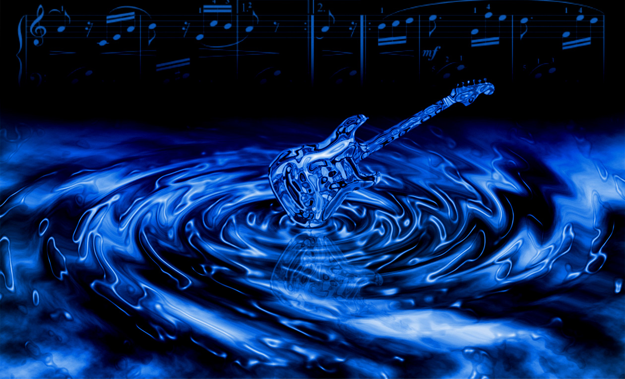 Guitar Wallpaper - Blue Water Effect Electric Guitar - 1260x765 ...