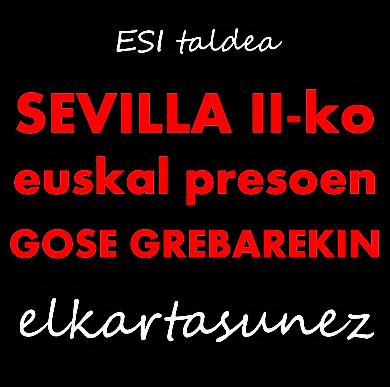 Sevilla II-ko gose grebarekiko elkartasun agiria