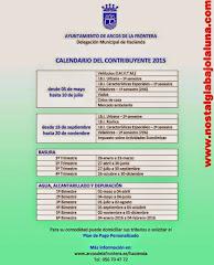 CALENDARIO DEL CONTRIBUYENTE ARCOS 2015