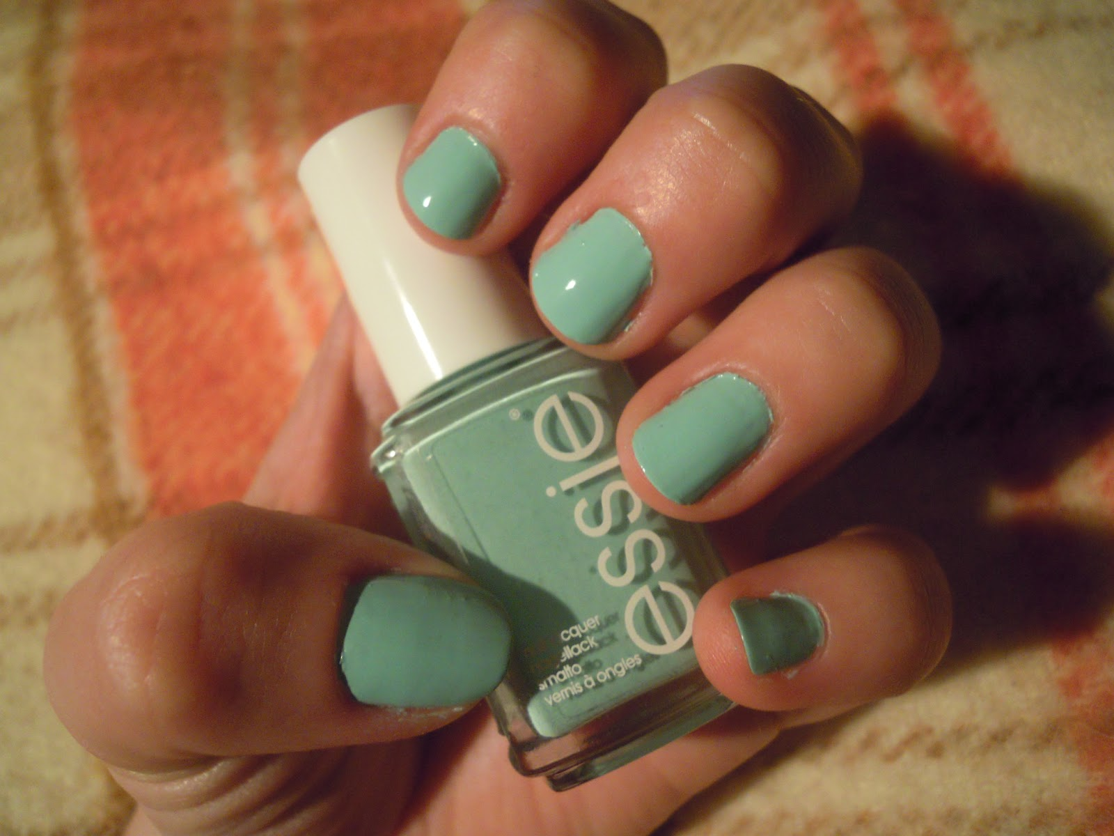 Picture of NOTD Essie Mint Candy Apple