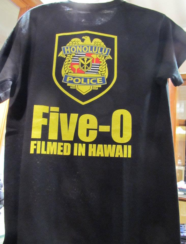 Hawaii five o shop all film crew t shirts are here for Hawaii 5 0 t shirt