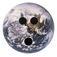 A picture of bowling ball earth.