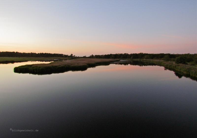 Der Bodden im Sonnenuntergang