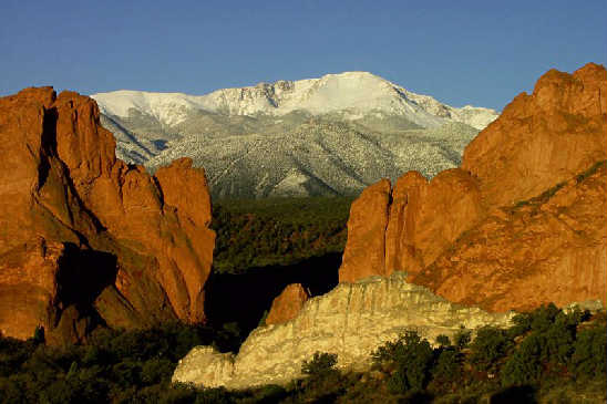 Garden Of The Gods Usa Great Panorama Picture