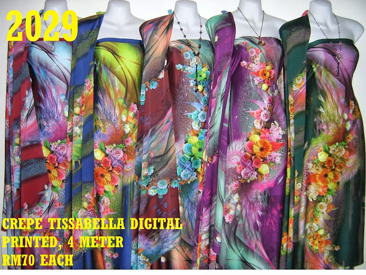 CTD 2029: CREPE TISSABELLA DIGITAL PRINTED, EXCLUSIVE DESIGN, 4 METER