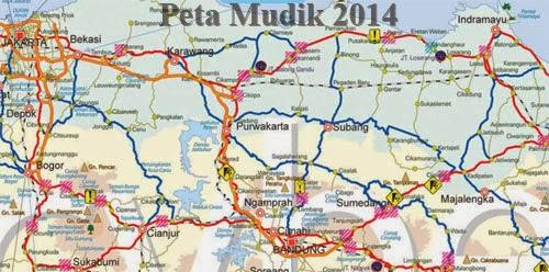 Peta Mudik 2014 Jawa Sumatera