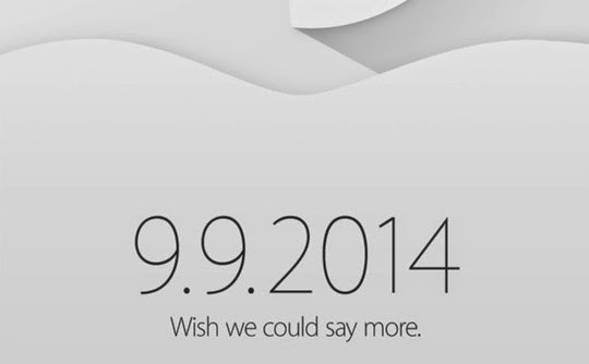Apple iPhone 6 invites, 9.9.2014, save the date