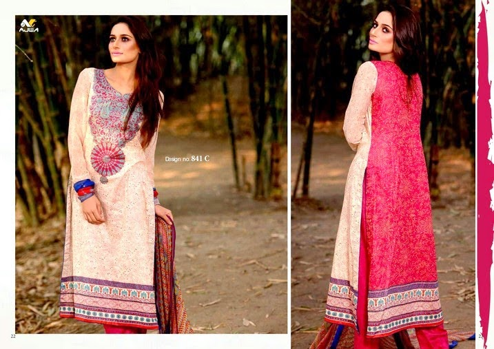 Two Color Lawn Dresses Fashion