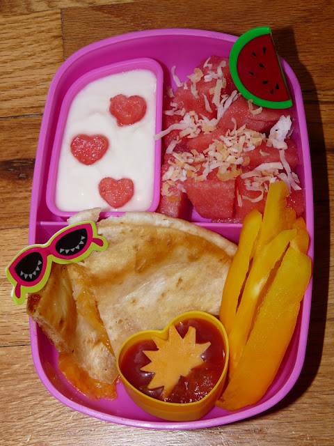 quesadilla summer bento lunch