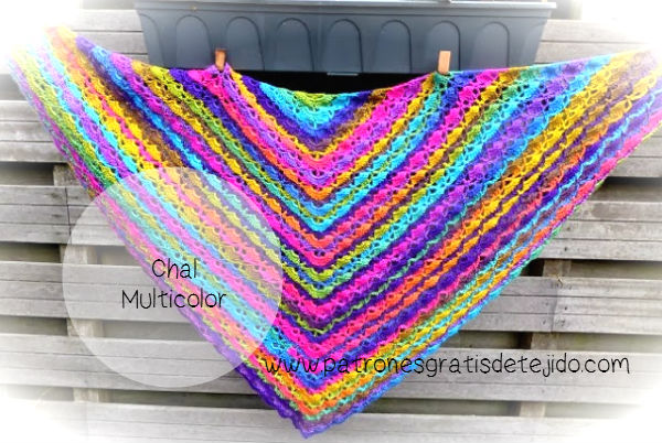 Chal tejido multicolor