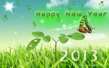 simple latest 2013 wallpaper for the new year 2013