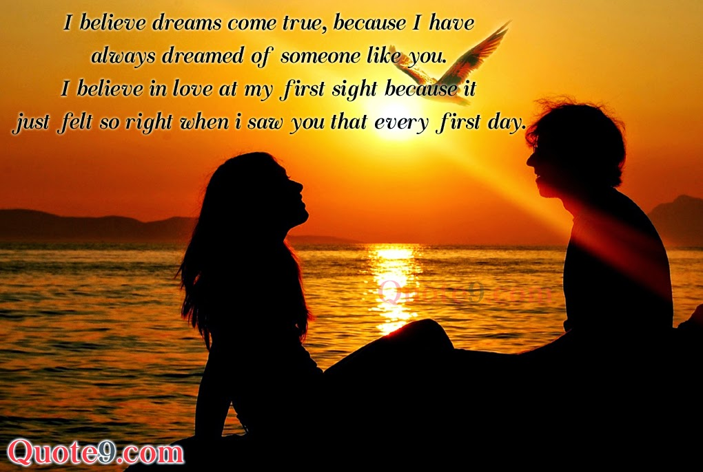 I Believe Dreams Come True Valentines Day Love Quotations