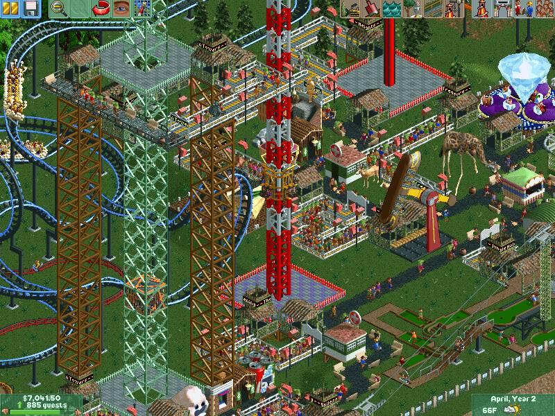 Poza 5 pentru RollerCoaster Tycoon 2 : Deluxe Edition. rollercoaster tycoon
