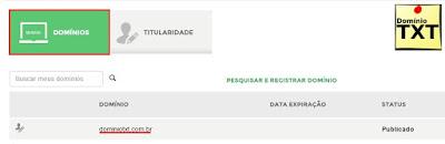DominioTXT - Dominio Registro BR
