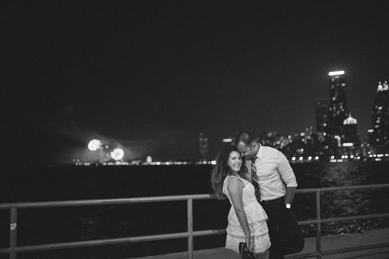Chicago Fireworks Creative Engagement Photo