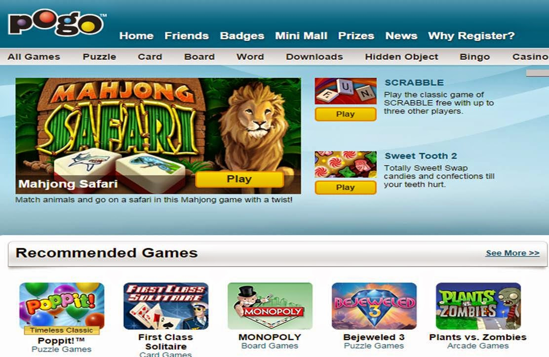 POGO.com-Play games for free without downloading