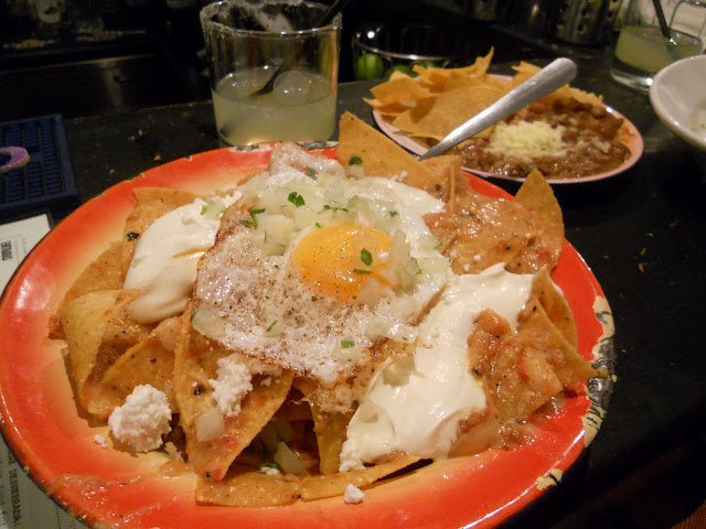 Mexican food chilaquiles