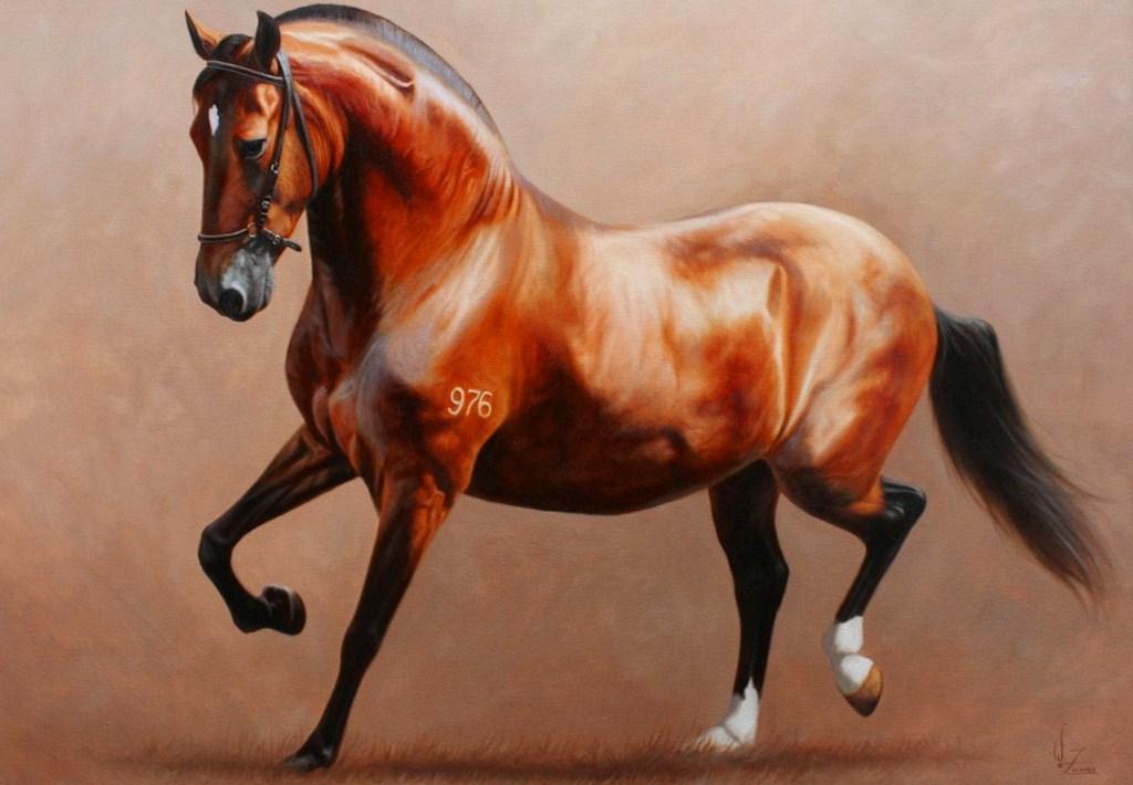 Cuadros pinturas oleos hermosos caballos pintados en leo - Los cuadros mas bonitos ...