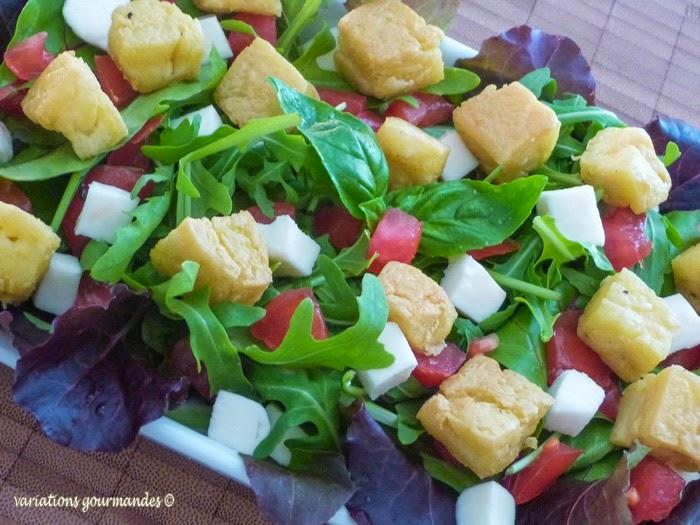 farine de pois chiche, mesclun, Nice, panisse, salades, Traditions Niçoises, entrée