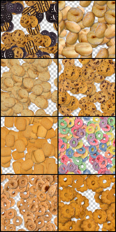 Cookies Photoshop seamless tiling patterns
