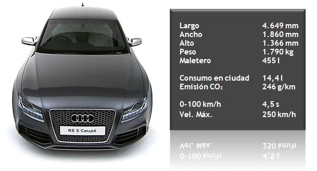 Automóvil AUDI RS5 gris