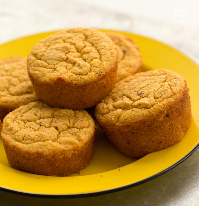 Buttery Vegan Corn Muffins