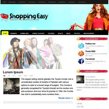 Shopping Easy blogger template. template blogspot free