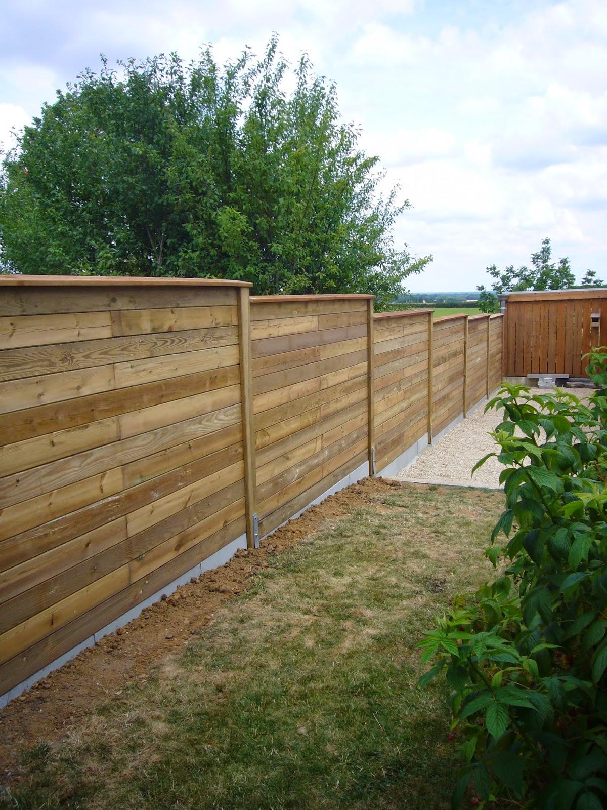 clôture beton imitation bois pas cher