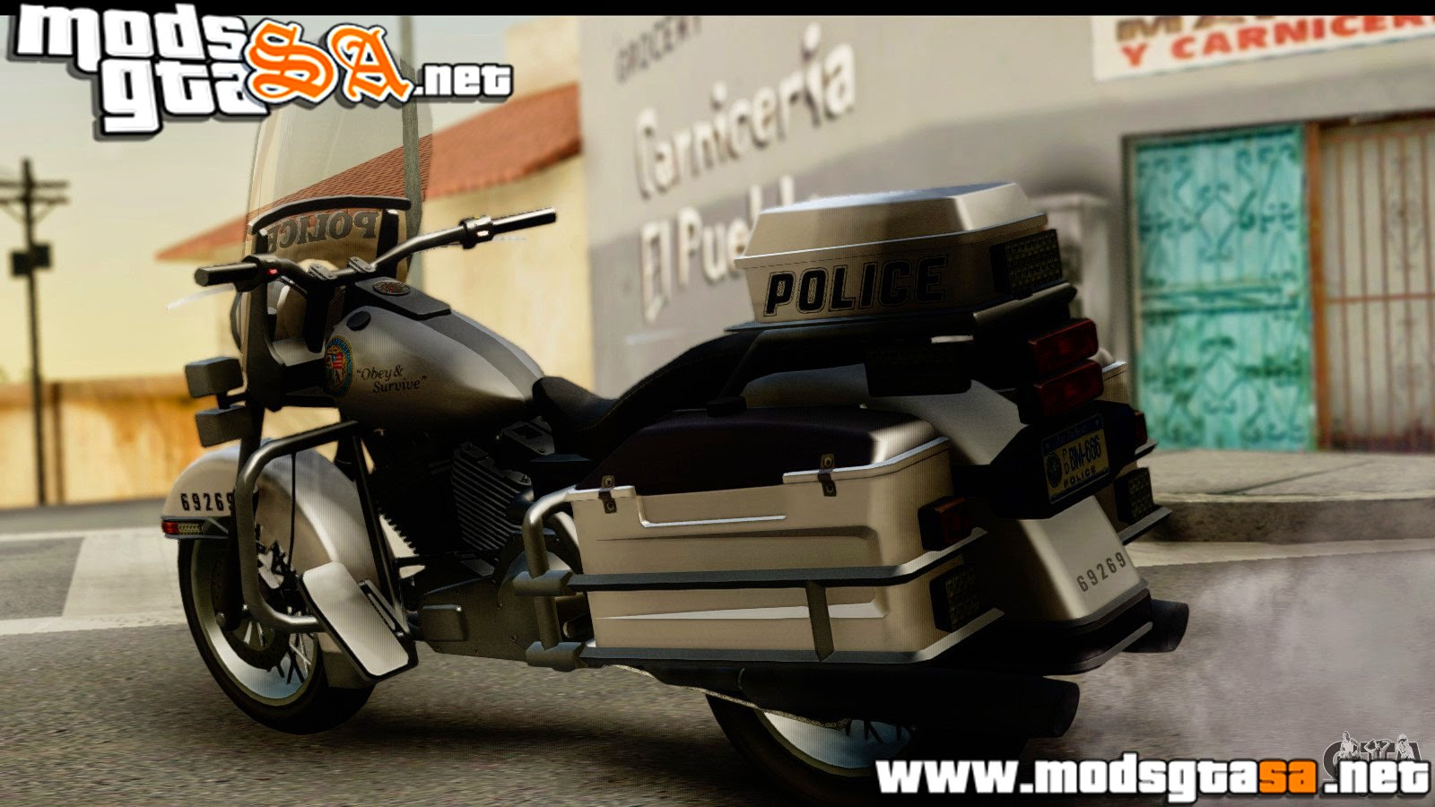 SA - Moto da Policia do GTA V