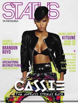 >Cassie en couverture de Status Magazine