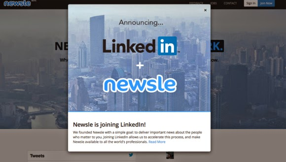 LinkedIn acquires Newsle, LinkedIn  Newsle, acquisition of Newsle, LinkedIn buys Newsle, social media, internet,