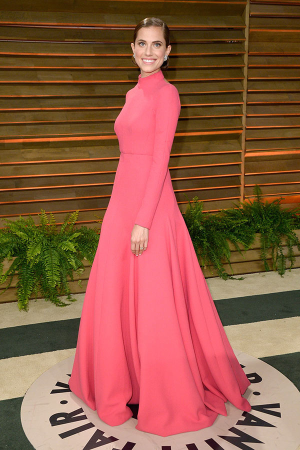 allison williams fiesta vanity fair Oscars 2014