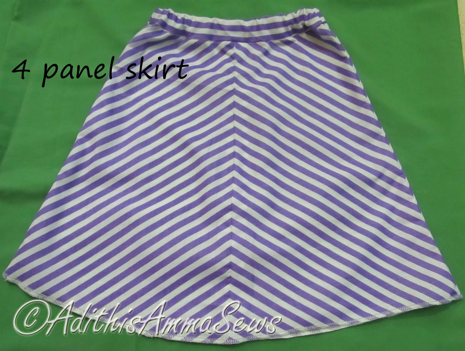 Adithis Amma Sews - Cute Confessions of a Sew Addict: Panel Skirt ...