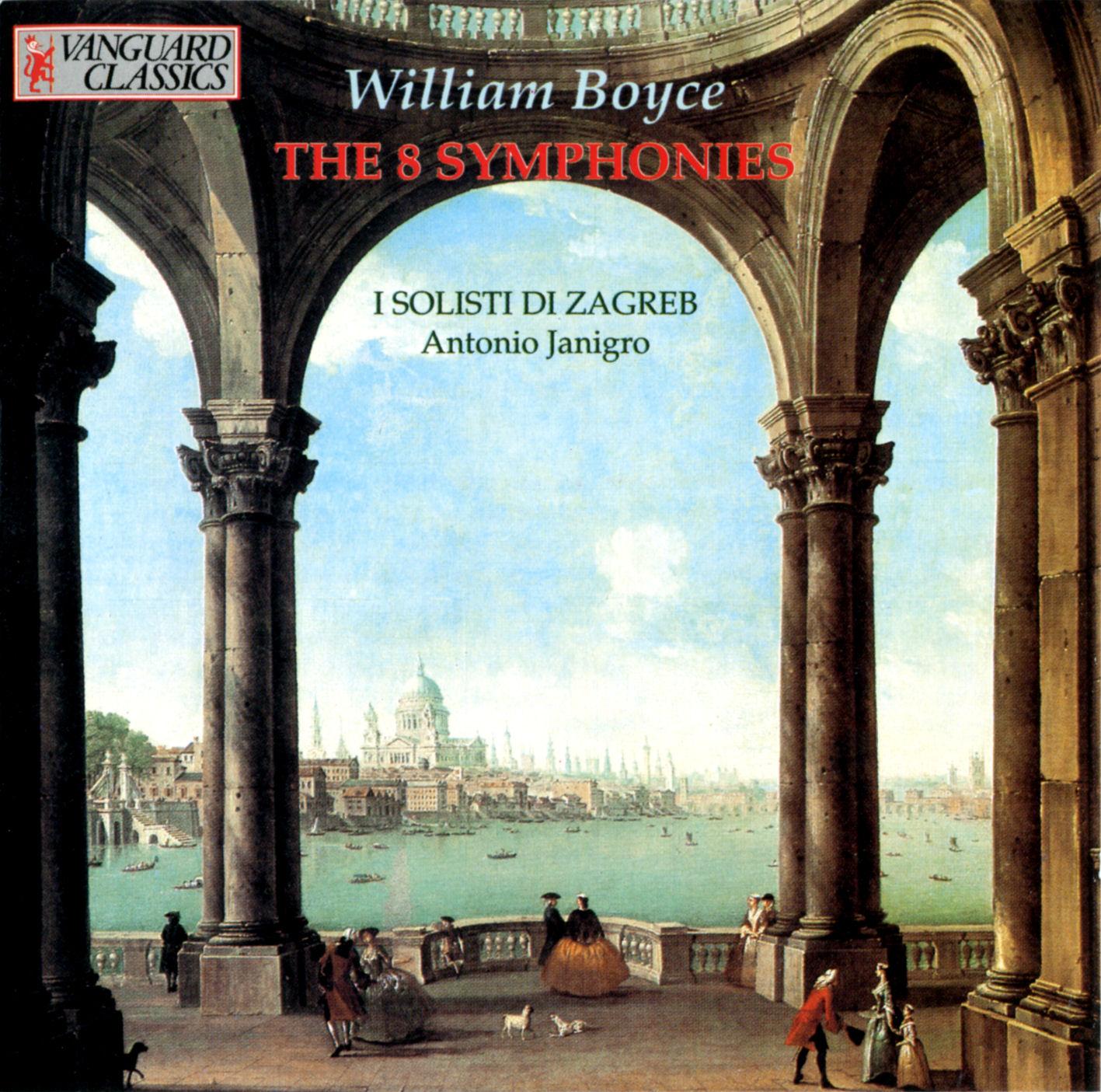Boyce: The 8 Symphonies - I Solisti Zagreb, Antonio Janigro - jewish ...