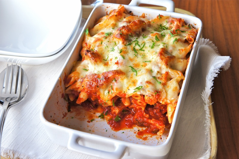 Chicken Parmigiana With Penne Pasta