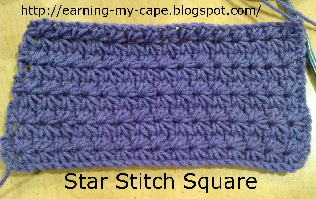 Crochet Stitches Star : Earning-My-Cape: Weekly Crochet Square: Squares 15 & 16