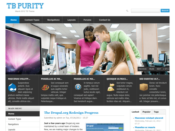 TB Purity drupal theme