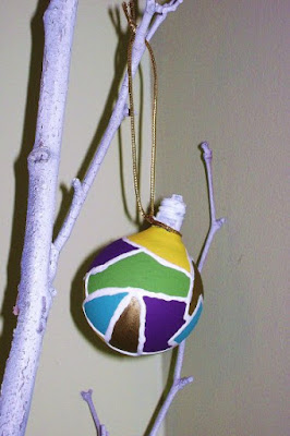 Stained glass light bulb ornaments 1