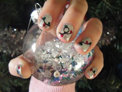 luckys nails christmas lights nail art tutorial