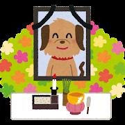 ペットのお葬式のイラスト